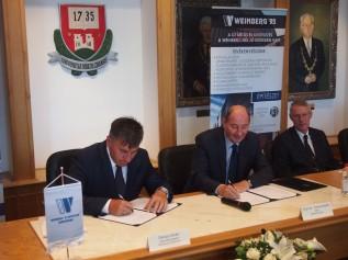 Egyetemünk együttműködési megállapodást kötött a Weinberg '93 Kft-vel