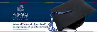 Élő közvetítés a júniusi diplomaátadó ünnepségekről